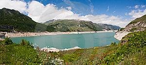 Alpine Lake. France Stock Image - Image: 15410741