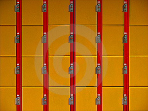 Lockers Wallpaper Stock Photo - Image: 15410830