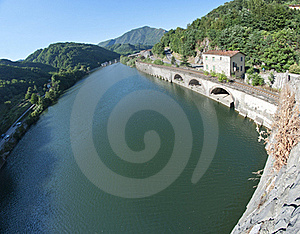 Devils Bridge Fisheye View, Lucca Royalty Free Stock Photo - Image: 15411425