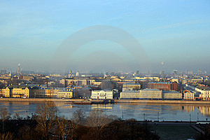 View Down Neva River Front In Saint-Petersburg Stock Photos - Image: 15414273