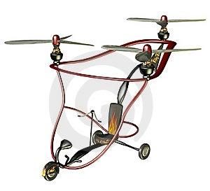 Steampunk Flying Machine 4 Stock Photos - Image: 15417403