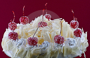 White Forest Cake Royalty Free Stock Images - Image: 15417669