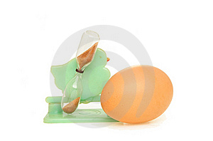 Egg And Timer Royalty Free Stock Photo - Image: 15418795