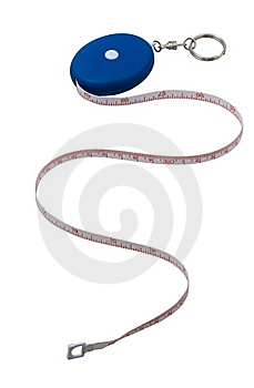 Measuring Roulette Isolated On White Royalty Free Stock Image - Image: 15420166
