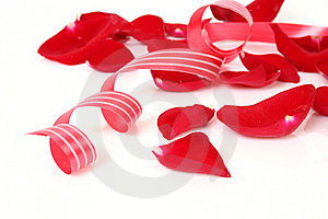 Streamer And Petals Stock Photography - Image: 15423532