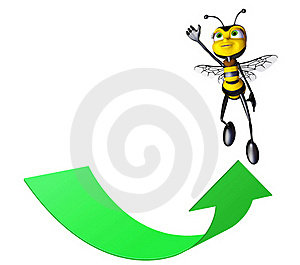 Honey Bee Super Flying Up Stock Photos - Image: 15423803