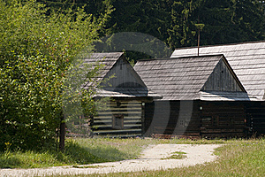 Traditional Wooden Houses Royalty Free Stock Photography - Image: 15424107