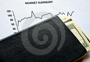 Stock Market And Dollars Stock Images - Image: 15424604