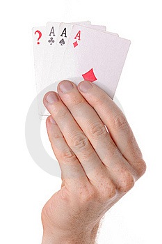 Winning Poker Hand Of Aces Playing Cards Royalty Free Stock Photo - Image: 15425335