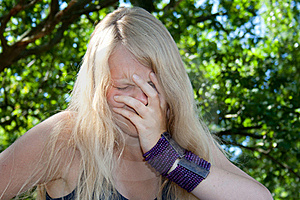Young Woman Cries Stock Photos - Image: 15425633