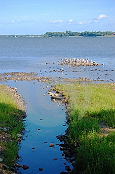 Brook And Lake Royalty Free Stock Photo - Image: 15426555