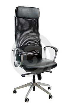 Black Leather Easy Chair Stock Photo - Image: 15427140