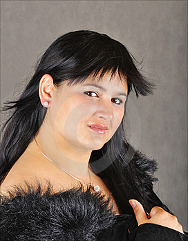Gorgeous Lady With Fur Stock Image - Image: 15427191