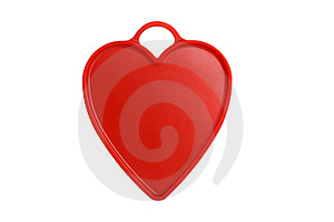 Red Heart With Handle Royalty Free Stock Images - Image: 15427539