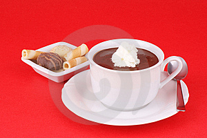 Cup Of Hot Chocolate With Whipped Cream Royalty Free Stock Photos - Image: 15427878