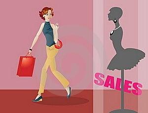Fashionable Girl Shopping Royalty Free Stock Images - Image: 15429719