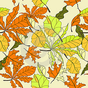 Autumn Seamless Wallpaper Stock Images - Image: 15429734