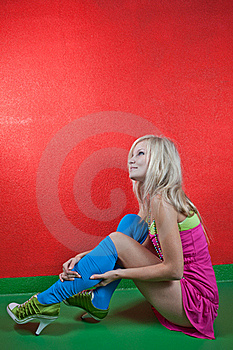 Female Wearing High Boots Stock Image - Image: 15429941