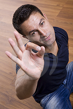 Man Showing Ok Gesture Stock Photography - Image: 15431512