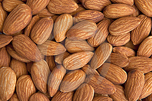 Almonds Background Royalty Free Stock Image - Image: 15433216