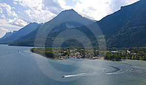 Bird View Of Waterton Village Stock Photography - Image: 15433372
