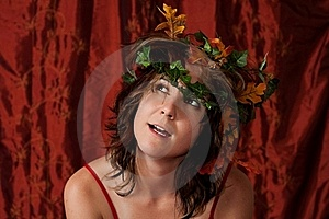 Fairy Girl With Ivy Hair Royalty Free Stock Photos - Image: 15433448