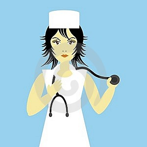 Nice Young Nurse Royalty Free Stock Photography - Image: 15434337