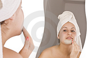 Woman during spa Royalty Free Stock Image