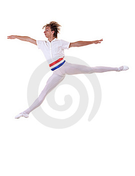 Ballet Man Jumping Royalty Free Stock Photography - Image: 15434537