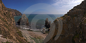 Boulder Beach, Cabo Da Roca. Royalty Free Stock Images - Image: 15436669