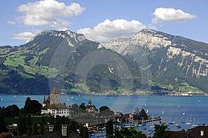 Mountain Scene, Spiez, Switzerland Stock Photos - Image: 15439233