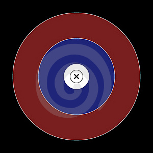 NFAA IFAA 50 CM HUNTER Field Target Face Royalty Free Stock Images - Image: 15439289