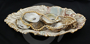 Pearls And Oyster Shells Royalty Free Stock Photo - Image: 15440855