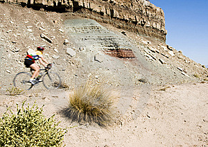 Biking In Colorado Nat Monument Stock Images - Image: 15441334