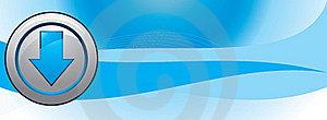 Button With Pointer On Abstract Blue Background Stock Image - Image: 15441791