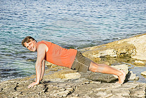 Man Performing Push Ups Stock Photo - Image: 15444740