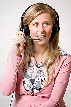 Women With Headphones Stock Photos - Image: 15444863