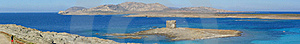 La Pelosa Beach In Sardinia, Italy - Panorama Royalty Free Stock Photo - Image: 15445765