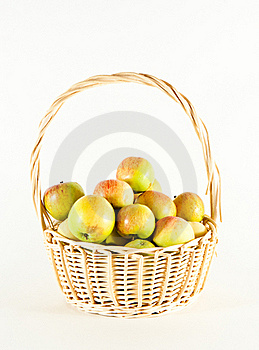 Basket With Apples Royalty Free Stock Photos - Image: 15447728