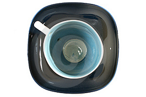 Tea Cup With A Spoon On The Saucer Royalty Free Stock Images - Image: 15448099