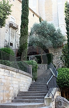 Stairway To Historic Building In Gerona, Spain Royalty Free Stock Image - Image: 15449736