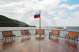 A Deck On Cruise Boat Stock Photo - Image: 15451170