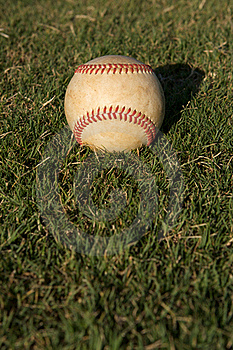 Baseball In The Grass Royalty Free Stock Photography - Image: 15451267