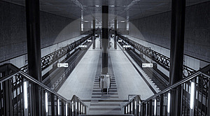 Symmetrical Central Station Berlin Stock Image - Image: 15451731