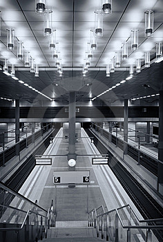 Symmetrical Central Station Berlin Royalty Free Stock Image - Image: 15451736