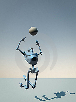 Catch The Ball Royalty Free Stock Images - Image: 15451949