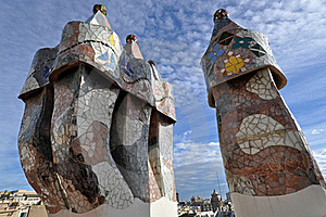 Casa Batllo, Detail Of The Roof Stock Image - Image: 15452941