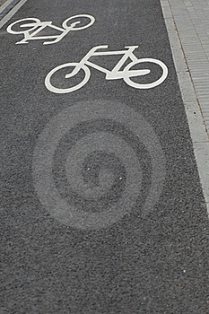 Bicycle Road Sign Stock Photo - Image: 15455360