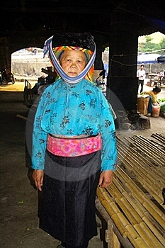 White Hmong Grandmother Royalty Free Stock Image - Image: 15456246