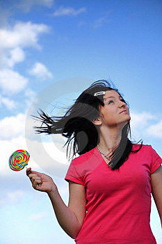 Girl With Lollipop Royalty Free Stock Photos - Image: 15457518
